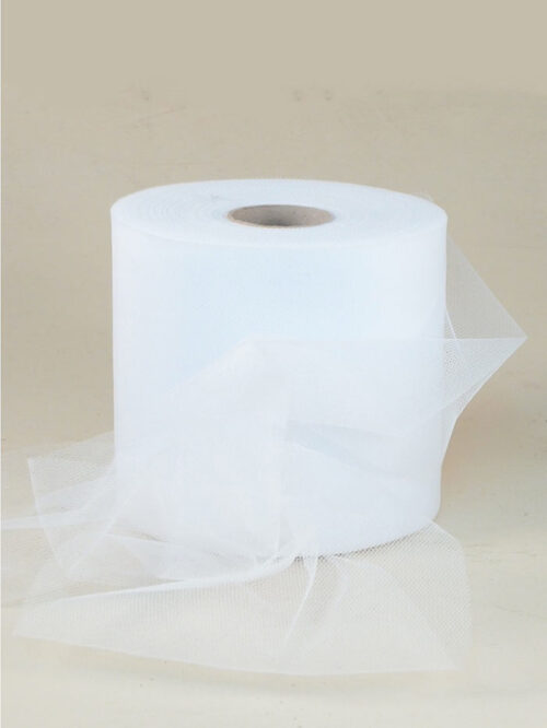 Rotolo nastro tulle made in italy Col. bianco 00