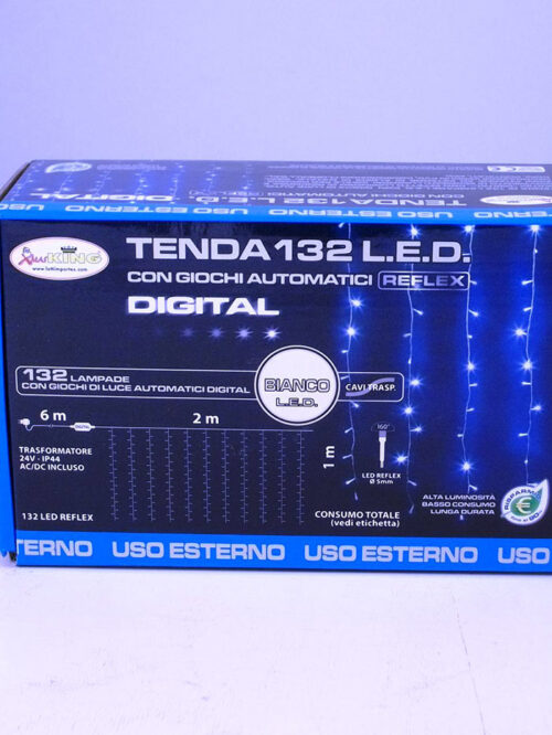 Tenda 132 led digital tep 132 Col. luce L.E.D. bianca