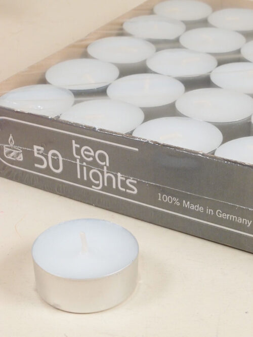 Tealights candela cera durata 4 ore made in germany