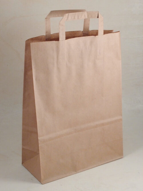Borsa shopper carta piattina kraft avana made in italy