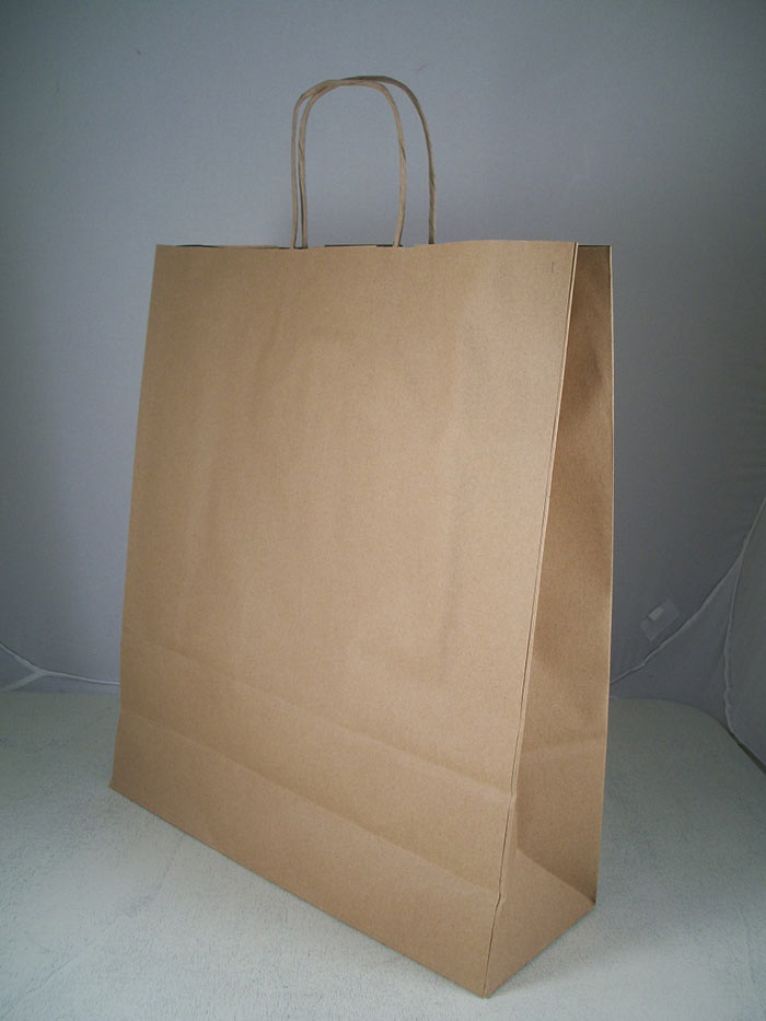 Borsa shopper carta kraft avana manici torciglione made in italy