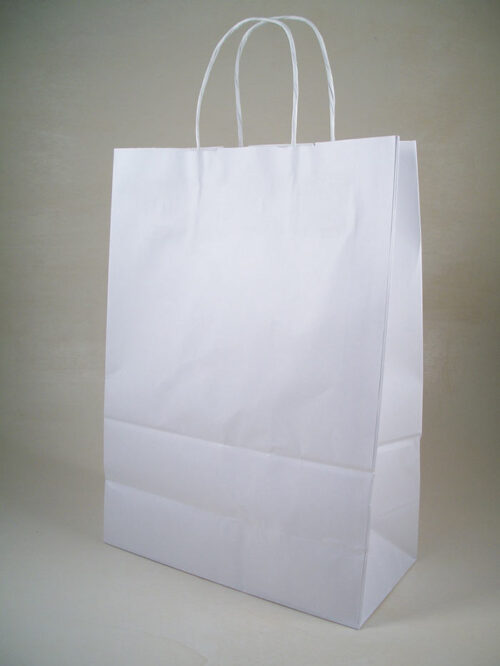 Borsa shopper carta kraft manici torciglione