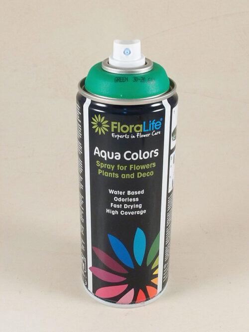 Flacone colorante spray professionale all'acqua ideale per fiori freschi e altri materiali Col. green
