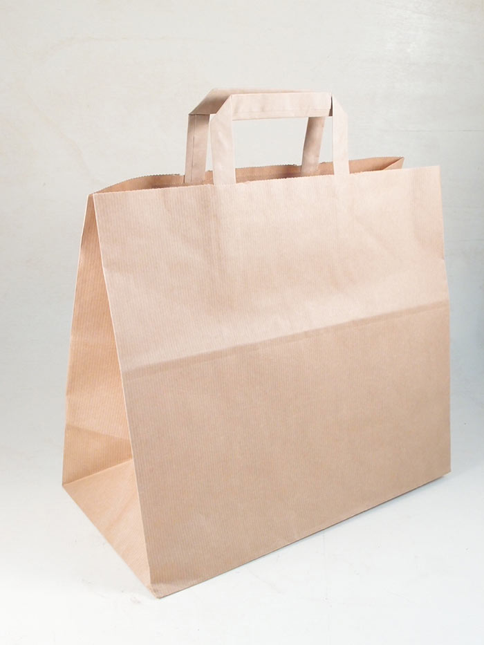 Borsa shopper carta piattina kraft avana